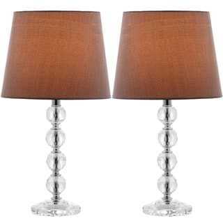 Safavieh Indoor 1-light Nola Gray Shade Stacked Crystal Ball Table Lamp (Set of 2)