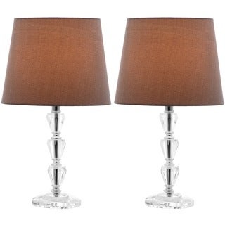 Safavieh Indoor 1-light Dylan Gray Shade Tiered Crystal Orb Table Lamp (Set of 2)