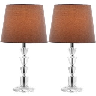 Safavieh Indoor 1-light Harlow Gray Shade Tiered Crystal Orb Table Lamp (Set of 2)