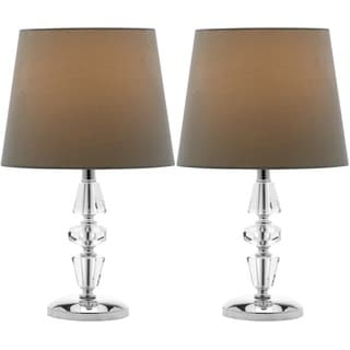 Safavieh Indoor 1-light Crescendo Green Shade Tiered Crystal Table Lamp (Set of 2)