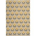 Safavieh Indoor/ Outdoor Hampton Ivory/ Camel Rug (5'1 x 7'7)