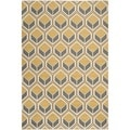 Safavieh Indoor/ Outdoor Hampton Ivory/ Camel Rug (8' x 11')