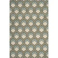 Safavieh Indoor/ Outdoor Stain-resistant Hampton Dark Gray/ Light Blue Rug (5'1 x 7'7)