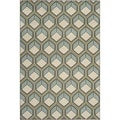 Safavieh Indoor/ Outdoor Hampton Dark Grey/ Light Blue Rug (6'7 x 9'6)