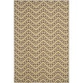 Safavieh Indoor/ Outdoor Hampton Brown/ Ivory Rug (5'1 x 7'7)