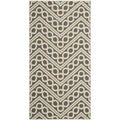 Safavieh Indoor/ Outdoor Hampton Dark Gray/ Ivory Area Rug (4' x 6')