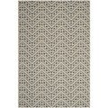 Safavieh Indoor/ Outdoor Hampton Dark Grey/ Ivory Rug (6'7 x 9'6)