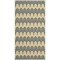 Safavieh Indoor/ Outdoor Hampton Green/ Light Blue Rug (2'7 x 5')