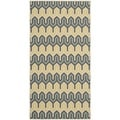 Safavieh Indoor/ Outdoor Hampton Green/ Light Blue Rug (4' x 6')