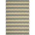 Safavieh Indoor/ Outdoor Hampton Green/ Light Blue Rug (5'1 x 7'7)