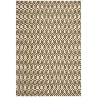 Safavieh Indoor/ Outdoor Hampton Brown/ Camel Rug (5'1 x 7'7)