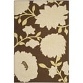 Safavieh Hampton Brown/ Ivory Indoor/ Outdoor Area Rug (6'7 x 9'6)