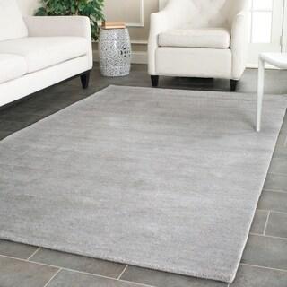 Safavieh Hand-loomed Himalaya Grey Wool Rug (6' x 9')