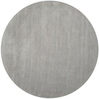 Safavieh Hand-loomed Himalaya Grey Wool Rug (6' Round)