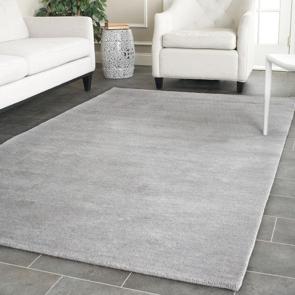 Safavieh hand loomed himalaya grey wool rug 8 39 x 10 for 7x9 bathroom design