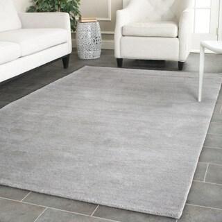 Safavieh Hand-loomed Himalaya Grey Wool Rug (8' Square)