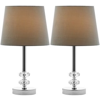 Safavieh Lighting 16-inches Ashford Green Shade Crystal Orb Table Lamp (Set of 2)