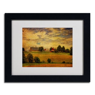 Lois Bryan 'Summer Farm' Framed Matted Art