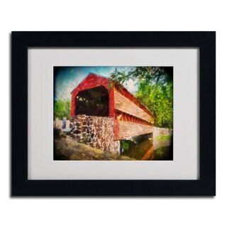 Lois Bryan 'Old Covered Bridge' Framed Matted Art