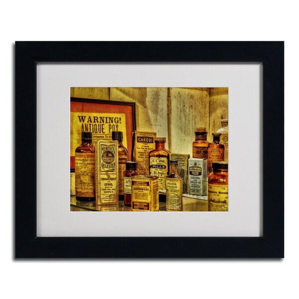 Lois Bryan 'Vintage Medicines' Framed Matted Art