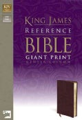 King James Version Giant Print Reference Bible: Burgundy/ Premium Leather Look (Paperback)
