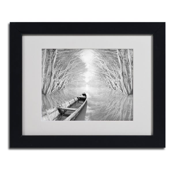 Moises Levy 'Welcome' Framed Matted Art
