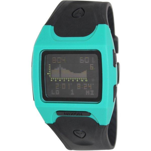 Nixon Men's Lodown Black Resin Quartz Digital Watch