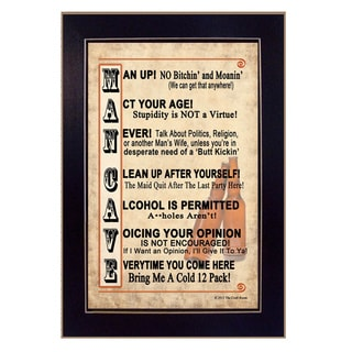 'Rules for the Man Cave' Framed Wall Art