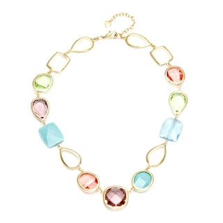 Carolee Goldtone Multi-Color Crystal Necklace