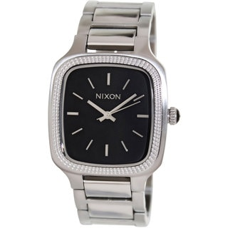 Nixon Women's Shelley Silver Stainless Steel Quartz Watch with Black Dial