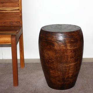 Mango Merlot 13-Inch Diameter Top x 20-Inch High Mocha Oil Stool