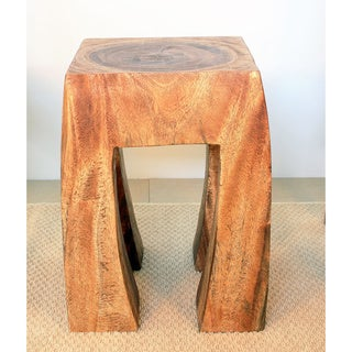 13-Inch Square Top x 19-Inch High Walnut Oil Stool/End Table