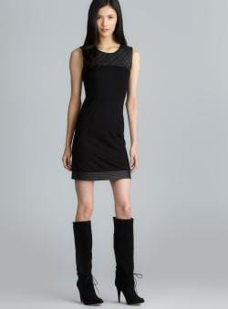 Jaye.e. Sleeveless Quilted Faux Leather Dress