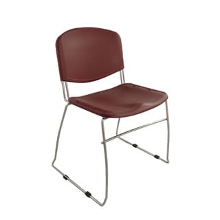 Ergocraft Burgundy DOT Stacking Chairs (Set of 4)