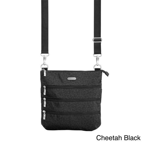 Baggallini 'Big Zipper' Multi-zipper Nylon Shoulder Bag