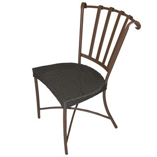 Keywest Side Bistro Mocha Weave Chair (Set of 2)