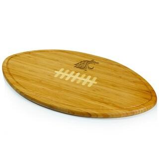 Picnic Time Kickoff Washington State Cougars Engraved Natural Wood Cutting Board