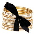 Carolee Gold/ White and Cubic Zirconia Bangle Bracelet Set (Set of 20)