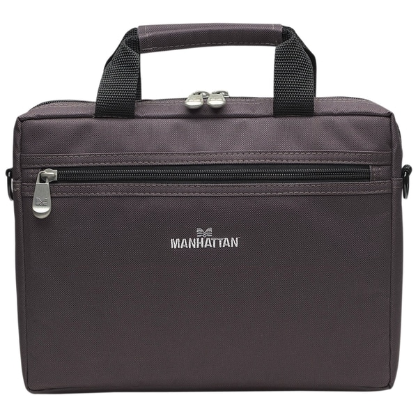 "Manhattan Copenhagen 10.1"" Laptop Briefcase, Dark Gray"