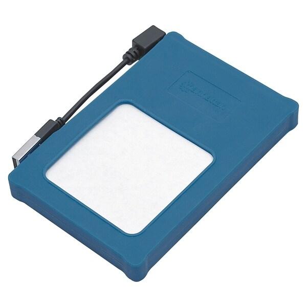 "Manhattan Hi-Speed USB, SATA, 2.5"" Drive Enclosure, Blue Silicone"