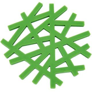 Freshware Green 'Living Tree' 6.5-inch Silicone Trivet Set (Set of 2)