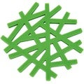 Freshware Green 'Living Tree' 6.5-inch Silicone Trivet Set (Set of 2)