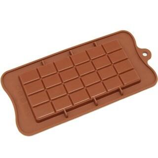 Freshware CB-607BR Brown Break-apart Chocolate Bar Silicone Mold