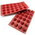 Freshware Red 24-Cavity Silicone Mini Volcano Cake Molds (Pack of 2)