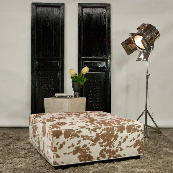 JAR Designs 'Dakota' Tan Square Ottoman