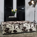 JAR Designs 'Dakota' Brown Rectangular Ottoman