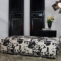 JAR Designs 'Dakota' Black Rectangular Ottoman
