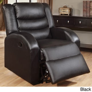 Squarehead Bonded Leather Rocker Recliner