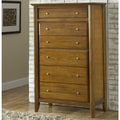 Contemporary Shaker Pecan 6-drawer Chest