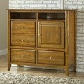 Contemporary Shaker Pecan Media Chest